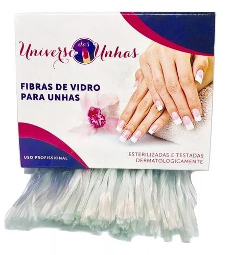 100 fibras  para unhas gel fibra acrigel uv led promoção