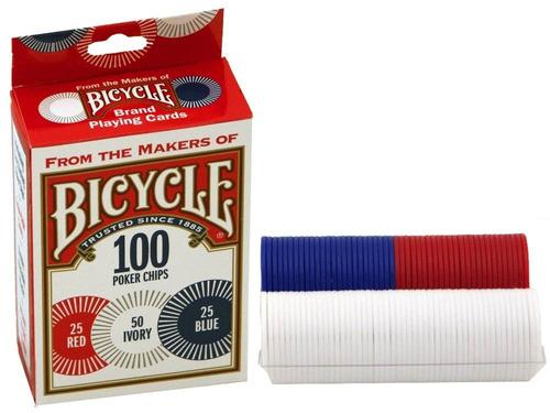 100 fichas poker  bicycle (poker chip) originales