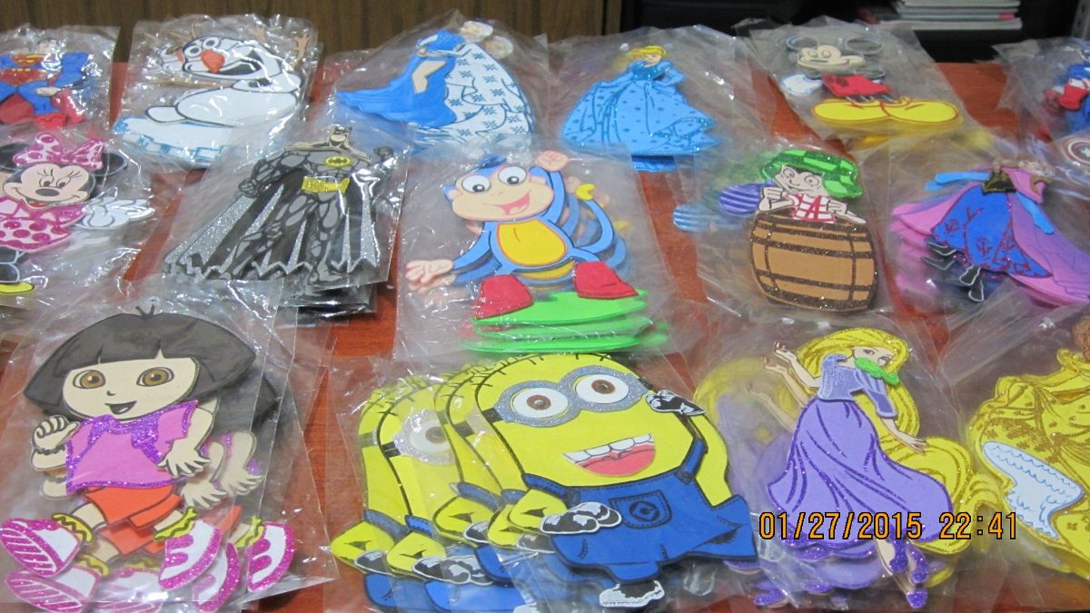 9a09665024e 100 Figuras Foamy