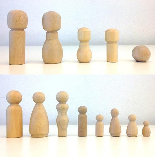 100 figuras muñeco madera peg dolls people precio mayorista