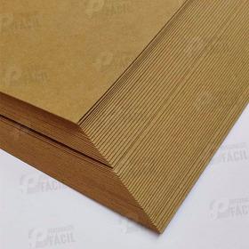 100 Fls Papel Kraft 170g / 180g A4 Marrom Escuro 180gr Craft