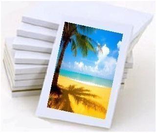 100 folhas papel fotográfico adesivo glossy a prova d'água