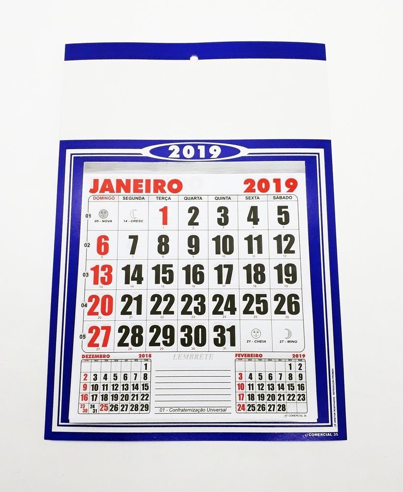 dfd1fa0d9 100 Folhinhas 2020 Personalizada Comercial De Parede 26x18 - R  299 ...