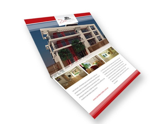 100 folletos trípticos a4 (21x30) color 150g + diseño gratis
