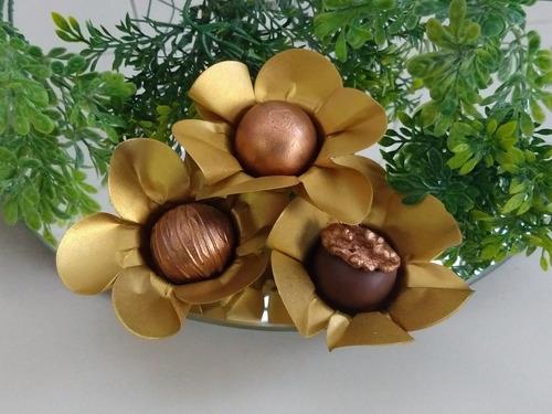 100 forminhas flor para doces em papel luxo festas