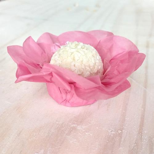 100 forminhas para doces em papel seda + tapetinhos f012