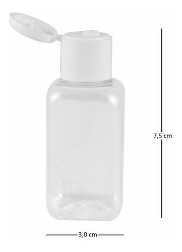 100 frasco p/ alcool gel 40ml lembrancinha flip top shampoo
