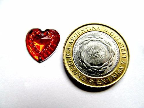 100 gemas falso strass corazon brilloso coser o pegar