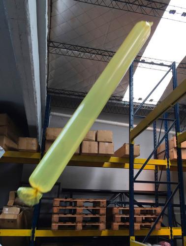 100 globos de cancha tubo bolsa manga de polietileno lisos