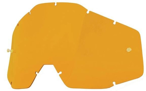 100% goggles replacement anti-fog lens persimmon