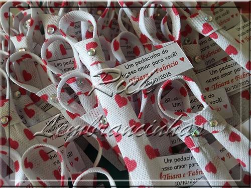 100 gravatinhas com  imã,  strass e tag - p/ casamento!