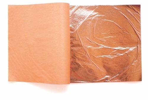 100 hojas de cobre 16x16 arte con 1/2 pegamento y 1/2 barniz