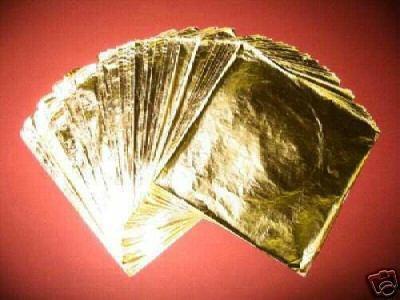 100 hojas  oro  arte artesanias 16 x 16 instructivo gratis