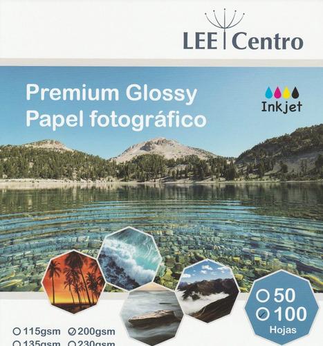 100 hojas papel fotografico glossy a4  lee centro 200 gramos