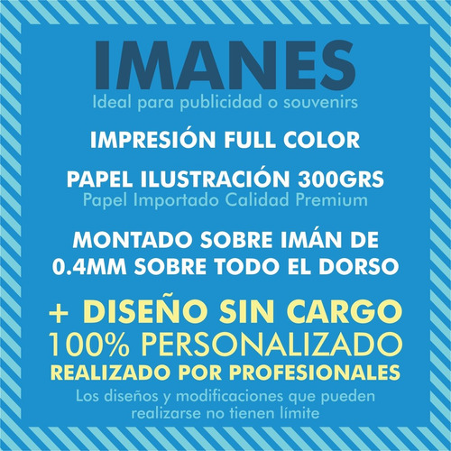 100 imanes para heladera 6x4cm full color + diseño gratis