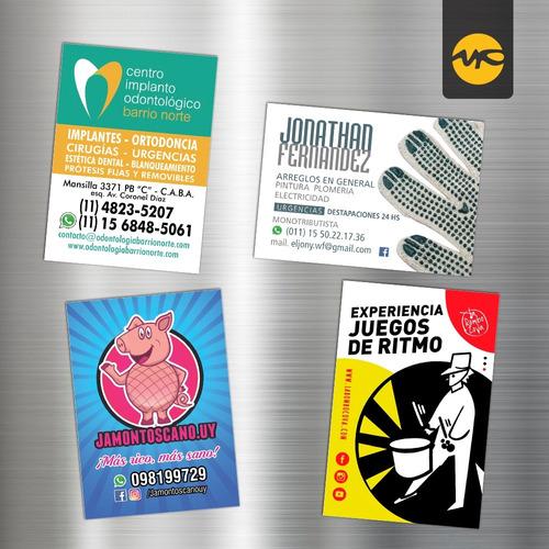 100 imanes publicitarios full color 6x4 cm