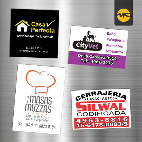 100 imanes publicitarios full color 6x4 cm