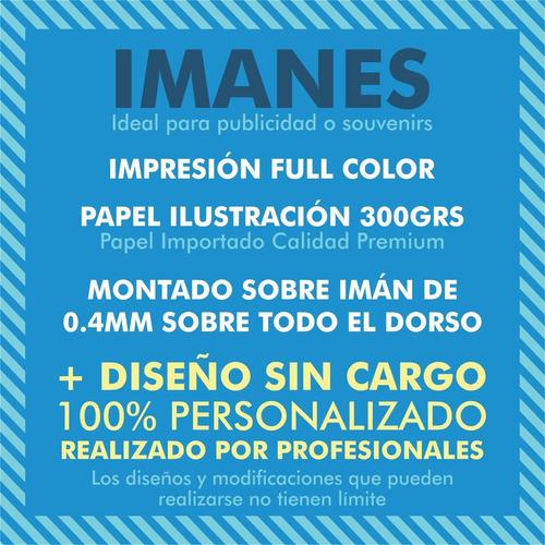 100 imanes publicitarios full color 7x5cm + diseño gratis