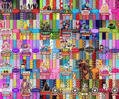 100 Kits Fondos Imprimibles - Personajes - Colección Top - $ 259,90 ...
