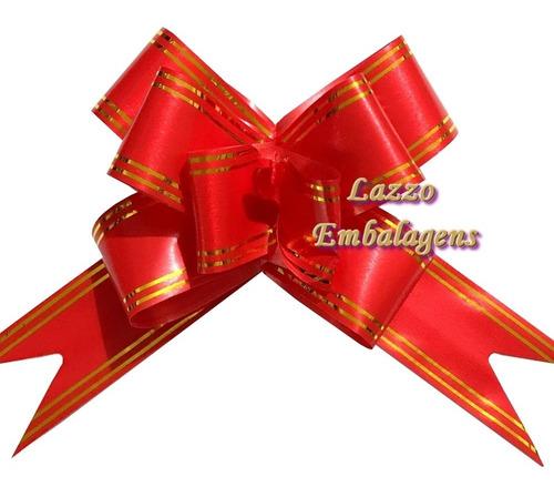 100 lacinhos magicos tamanho grande vermelho fita 32mmx59cm