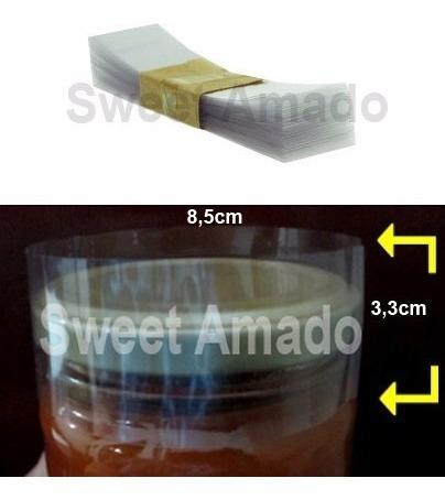 .100 lacre tampa pote berlim termoencolhível 85mm incolor