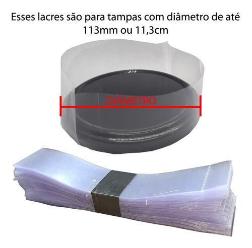 .100 lacres tampa 113mm diâmetro termoencolhível conserva