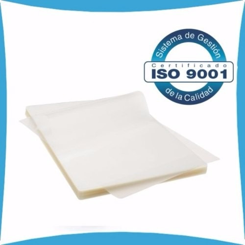 100 laminas de plastificar tamaño cedula 175 micrones 65x90
