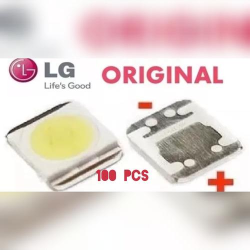 100 led 2835 lg 1w 3v 32ln5400 39ln5700 com abas
