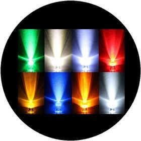 100 Leds Ultrabrillantes 5mm Led De Colores Variados Elijes