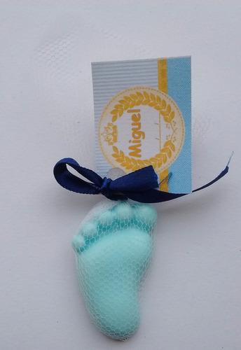 100 lembrancinha em sabonete,chá de bebê,maternidade menino