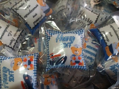 100 lembrancinhas chaveiro almofada tema chá de bebê meninos