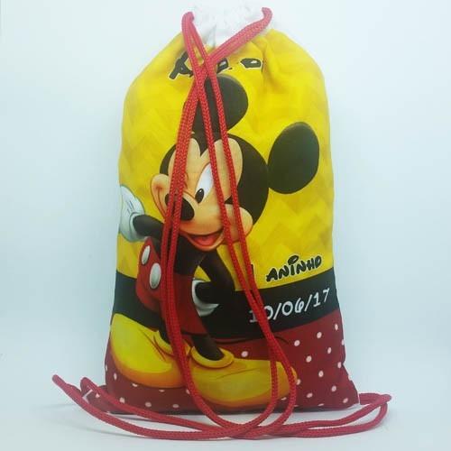 07ef4a472 100 Lembrancinhas Mickey - Mochila Saco 20x30cm - R  599