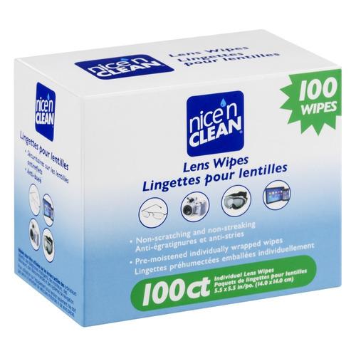100 lens wipes nice'n clean lenços de limpeza de lentes
