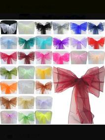 100 Listones Moños Organza 2 M X 15cm Variedad De Colores