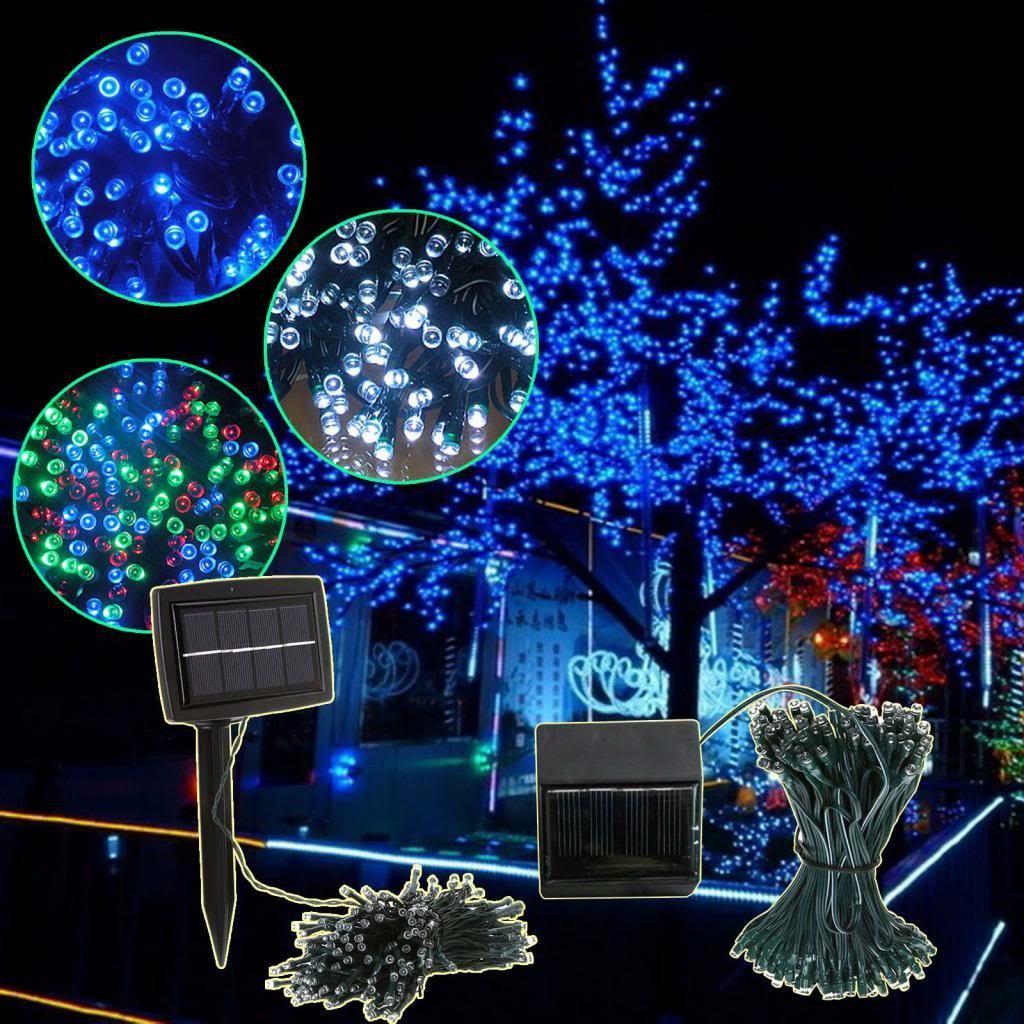 100 luces led solares navidad 11 metros de colores - Luces led de colores ...
