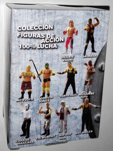100% lucha original la masa resina/base/carta