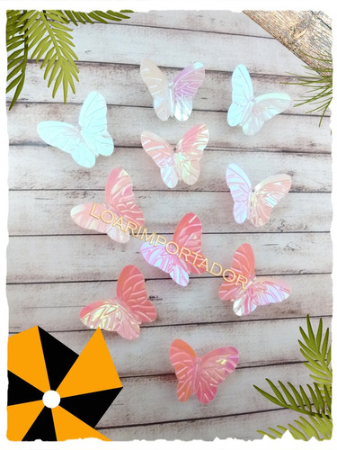 100 mariposas tornasolada plástica tortas golosinas