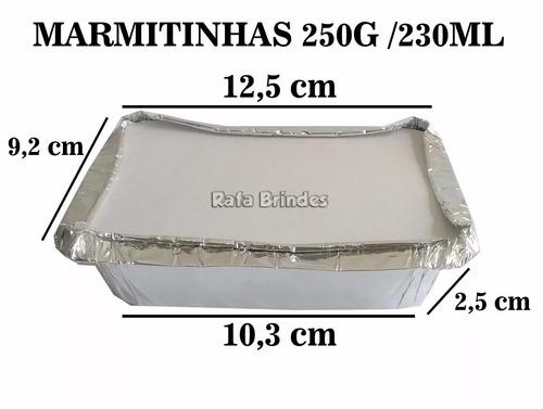 100 marmitas / marmitinhas para personalizar - 250g