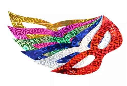 100 máscaras holográficas gatinha adereços carnaval atacado