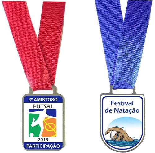 100 medalha esportiva personalizada de metal resinada.