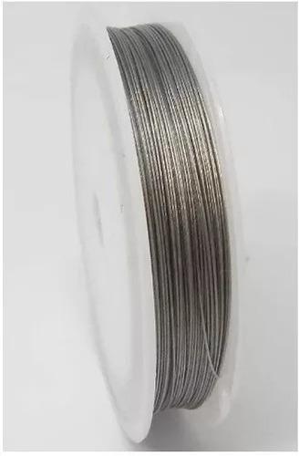 100 metros cabo fio aço inox+100 fixador montagem lustres