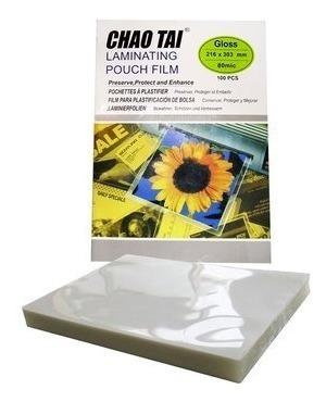 100 micas laminas termolaminadora plastificadora a4 jayma