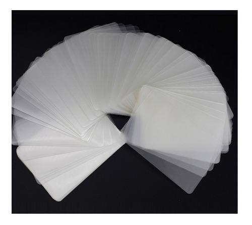 100 micas transparente credencial pvc holograma