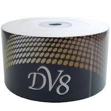 100 midia virgem dvd-r dv8 com logo 8/16x 4.7g lacrado novo