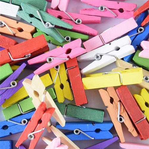 100 mini broches colores surtidos - brochesitos 3,5cm