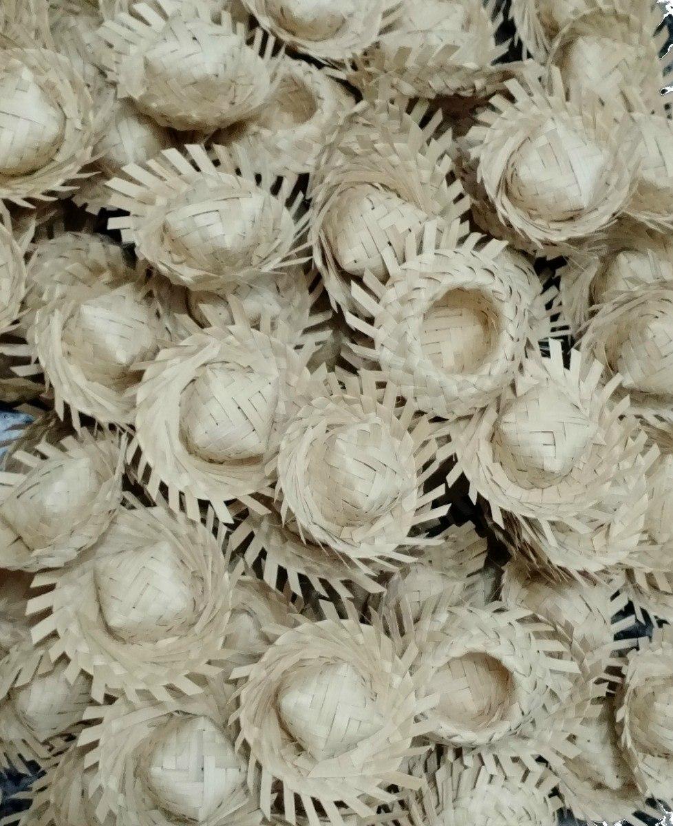 100 mini chapéu de palha de carnaúba enfeite festa junino. Carregando zoom. 2bc1689e002