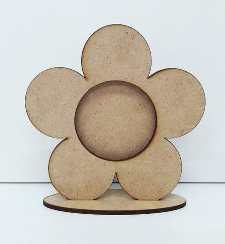 100 mini porta retrato lembrancinha menina flor jardim mdf