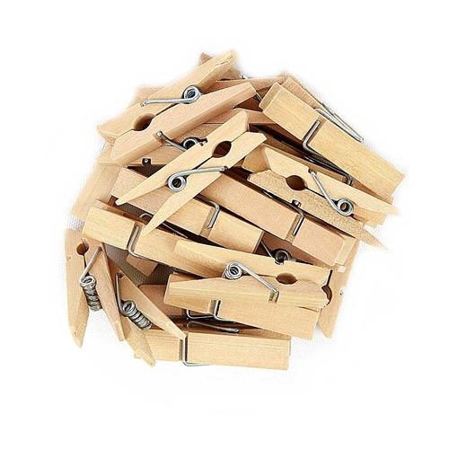 100 mini pregadores em madeira 3,5cm lembrancinha decoração