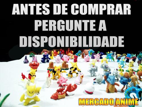 100 miniatura boneco pokemon go pikachu colecão festa xy kit
