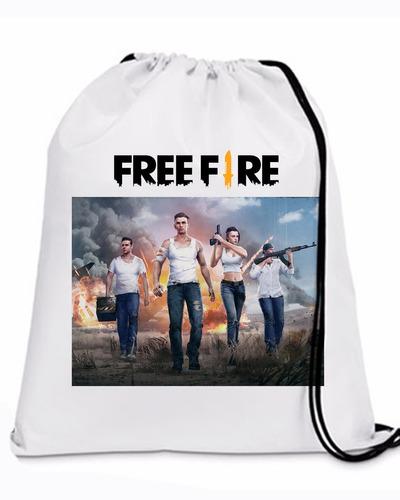 100 mochilinha sacochila free fire game